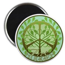 "Peaceful Tree Hugger 2.25"" Magnet (100 pack)"