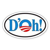 D'oh! Obama Euro Oval Decal