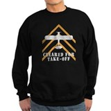 Aviation Airplane Runway Sweatshirt