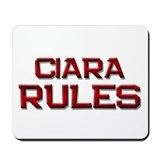 ciara rules Mousepad
