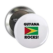 "Guyana Rocks 2.25"" Button"