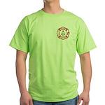 Mason Fire Fighter Green T-Shirt
