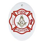 Mason Fire Fighter Oval Ornament