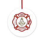 Mason Fire Fighter Ornament (Round)