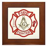 Mason Fire Fighter Framed Tile