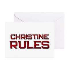 christine rules Greeting Cards (Pk of 10)
