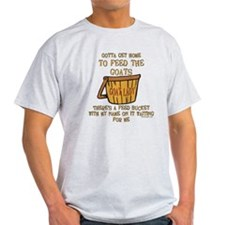 Goat Feed Bucket Goat Lady T-Shirt