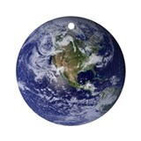 Earth Day Eco Globe Ornament (Round)