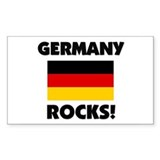Germany Rocks Rectangle Decal