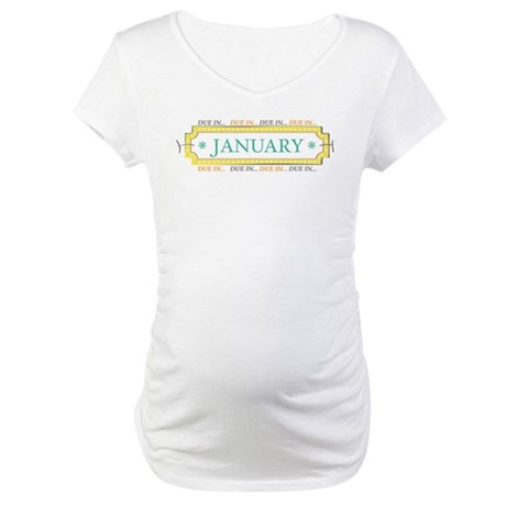 Due in January Label Maternity T-Shirt