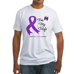 Pancreatic Cancer Wife Fitted T-Shirt