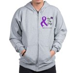Pancreatic Cancer Wife Zip Hoodie