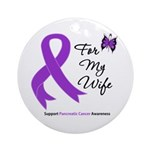 Pancreatic Cancer Wife Ornament (Round)