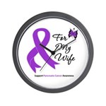 Pancreatic Cancer Wife Wall Clock