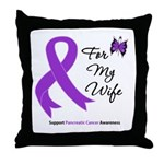 Pancreatic Cancer Wife Throw Pillow