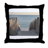 Pathway to Seaside Beach Throw Pillow