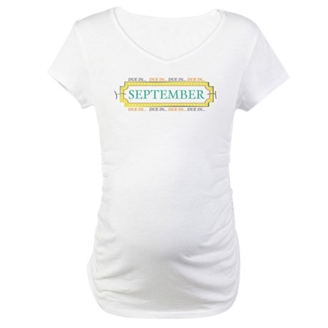 Due in September Label Maternity T-Shirt