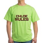 chloe rules Green T-Shirt