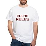 chloe rules White T-Shirt