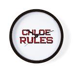 chloe rules Wall Clock