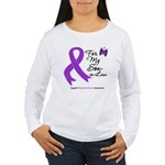 Pancreatic Cancer Son-in-Law Women's Long Sleeve T