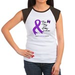 Pancreatic Cancer Son-in-Law Women's Cap Sleeve T-