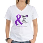 Pancreatic Cancer Son-in-Law Women's V-Neck T-Shir