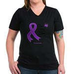 Pancreatic Cancer Son-in-Law Women's V-Neck Dark T