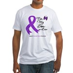 Pancreatic Cancer Son-in-Law Fitted T-Shirt