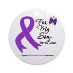 Pancreatic Cancer Son-in-Law Ornament (Round)
