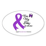 Pancreatic Cancer Son-in-Law Oval Sticker (50 pk)