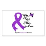 Pancreatic Cancer Son-in-Law Rectangle Sticker 10