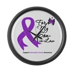 Pancreatic Cancer Son-in-Law Large Wall Clock