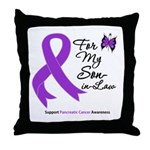 Pancreatic Cancer Son-in-Law Throw Pillow