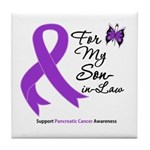 Pancreatic Cancer Son-in-Law Tile Coaster