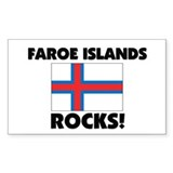 Faroe Islands Rocks Rectangle Decal