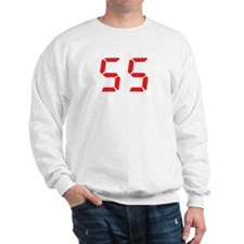 55 fifty-five red alarm clock Sweatshirt