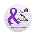 PancreaticCancer Mother Ornament (Round)