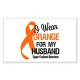 I Wear Orange For My Husband Rectangle Decal