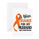I Wear Orange For My Husband Greeting Cards (Pk of