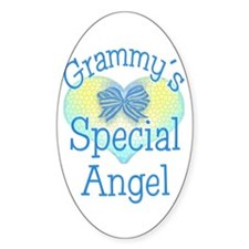 Grammy's Special Angel Oval Decal