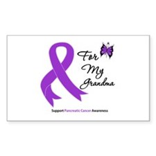 PancreaticCancer Grandma Rectangle Decal