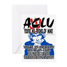 THE ACLU IS UNAMERICA AND UNC Greeting Cards (Pack