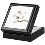 Martial Arts Brown Belt Birthday Keepsake Box