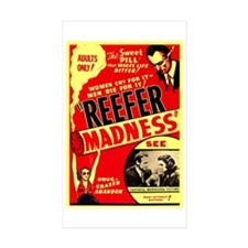 Marijuana Reefer Madness Rectangle Sticker 10 pk)