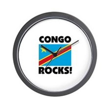 Congo Rocks Wall Clock