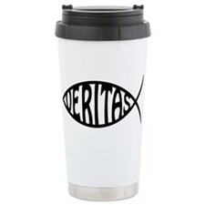 Jesus Christ Veritas Fish Ceramic Travel Mug