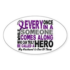 Hero Comes Along Husband Pancreatic Cancer Decal