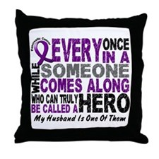 Hero Comes Along Husband Pancreatic Cancer Throw P