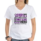 Hero Comes Along Husband Pancreatic Cancer Shirt W